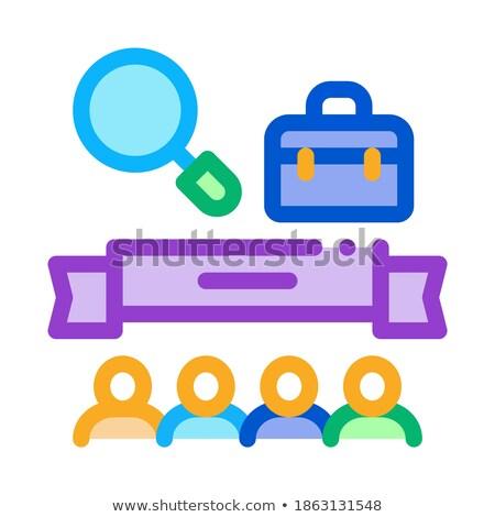 Insanlar bitirmek araştırma ikon vektör Stok fotoğraf © pikepicture