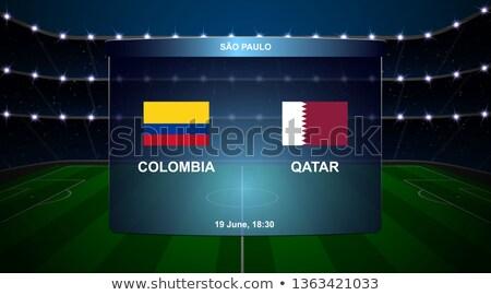 Colombia vs Katar futball gyufa illusztráció Stock fotó © olira