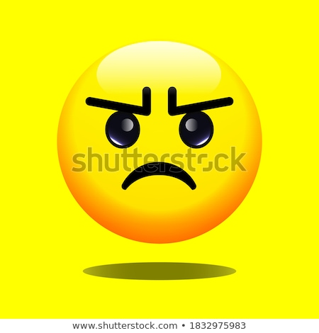Sad, somber emoji vector illustration Stock photo © barsrsind