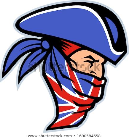 Highwayman Wearing Union Jack Bandana Side Mascot Stock photo © patrimonio