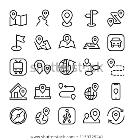 Car Gps Map Mark Icon Vector Outline Illustration Stock photo © pikepicture
