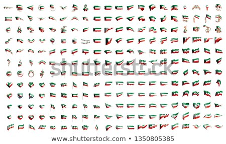 very big collection of vector flags of the Kuwait Stock photo © butenkow