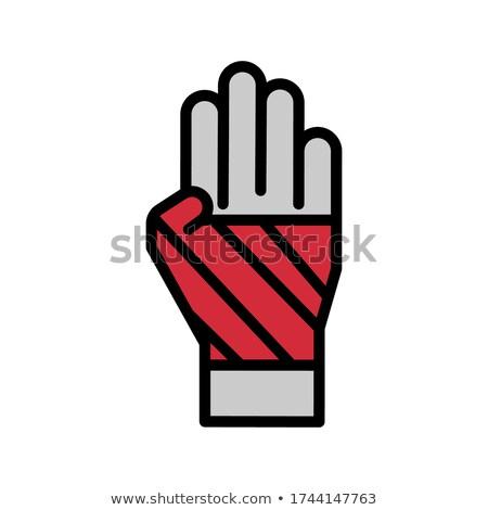 Tıbbi bandaj rulo ikon vektör Stok fotoğraf © pikepicture