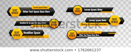 lower third banners in circle and geometric style Stock photo © SArts