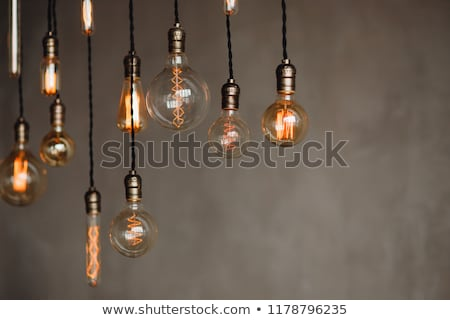 Pendant lamp with LED bulb Stock photo © magraphics