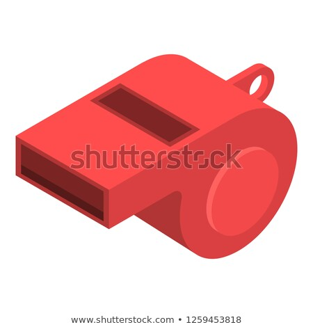Whistle for Sports Competition isometric icon vector illustration Stock photo © pikepicture