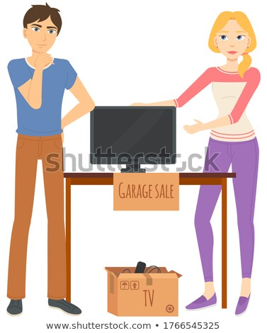 Tv Sale, Second Cheap Selling, Television Vector Stock photo © robuart