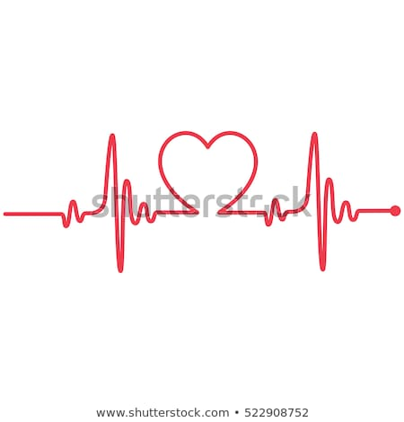 Heart cardiogram with heart Stock photo © m_pavlov
