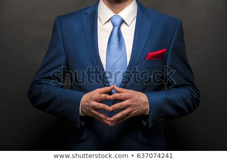 Isolated Blue Necktie Close Up Stock photo © pinkblue
