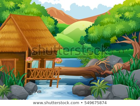 tropikal · çim · kulübe · caribbean · plaj · güneş - stok fotoğraf © simplefoto