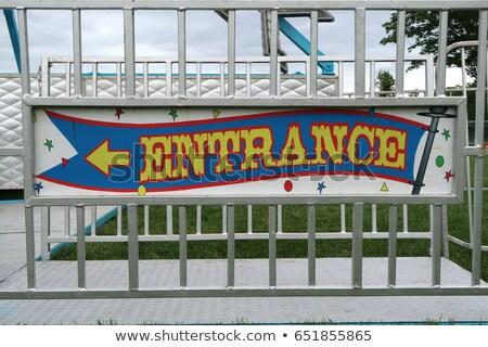 amusement park warning signs stock photo © sahua