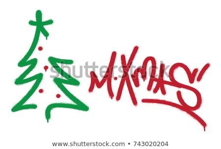Рождества граффити наклейку украшение звезды вечеринка Сток-фото © sahua