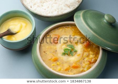 Stock photo: yellow lentils
