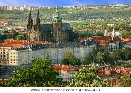 Prag · kale · görmek · ünlü · gökyüzü · su - stok fotoğraf © jamdesign
