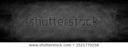 lousa · branco · giz · poeira · moldura · de · madeira · apagador - foto stock © bbbar