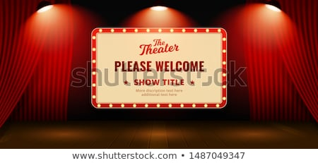 red curtain background blank billboard stock photo © adamson
