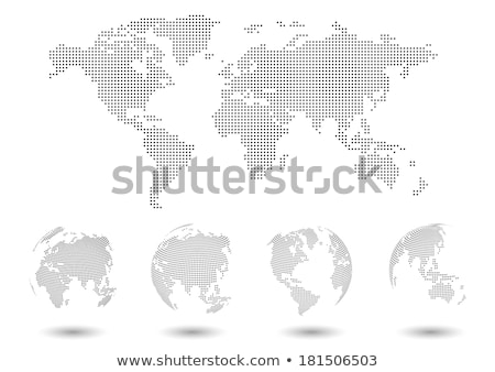 glossy earth map globe stock photo © oblachko