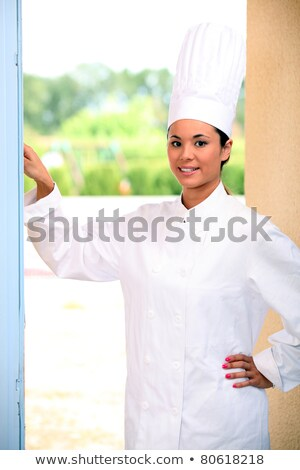Chef ringing doorbell Stock photo © photography33