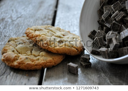 Stock photo: two chocolate cookies