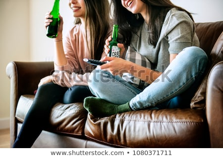 roommates drinking beer Stock photo © photography33