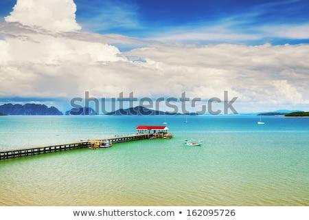 Ada deniz Tayland plaj gökyüzü Stok fotoğraf © PetrMalyshev