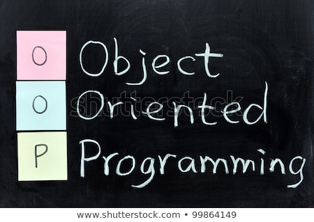 Chalk writing of OOP for Object Oriented Programming Stock photo © bbbar