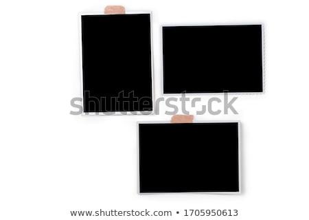 Fotó izolált öreg fehér papír terv Stock fotó © Witthaya