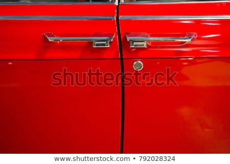 Lüks kiraz kırmızı araba görmek dramatik Stok fotoğraf © mtoome