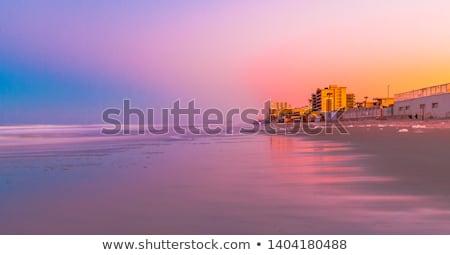 Beach Sunset Ormond Beach Stock photo © hlehnerer
