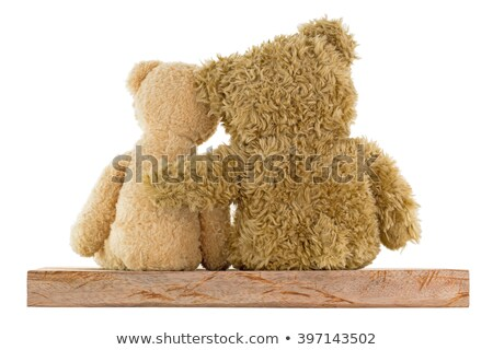 Little girl hugging two big teddy bears Stock photo © photography33