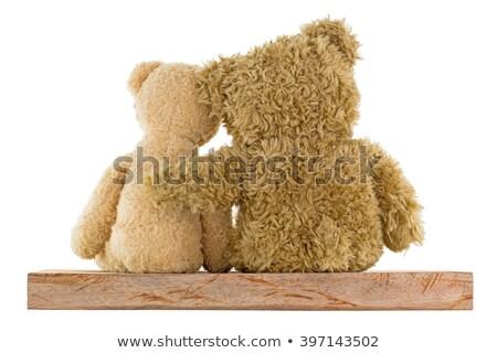 little girl hugging two big teddy bears stock photo © photography33