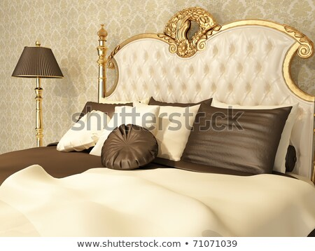Baroque bedroom with golden furniture in royal interior Residenc Stock photo © Victoria_Andreas