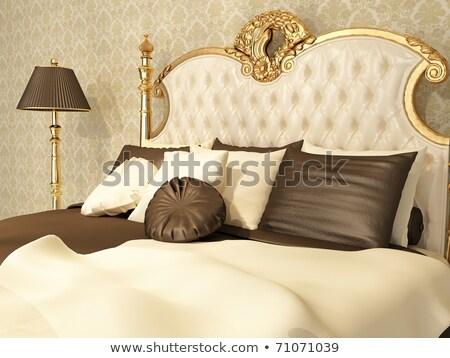 ストックフォト: Baroque Bedroom With Golden Furniture In Royal Interior Residenc