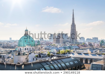 panoramique · vue · Vienne · ville · Autriche · bureau - photo stock © manfredxy