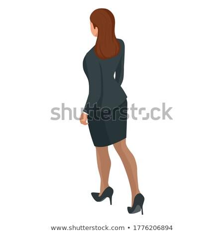 genç · kadın · yürütme · iş · takım · elbise · ofis · çalışanı - stok fotoğraf © christinerose81