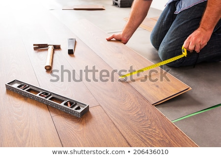man installing laminate flooring stock photo © photography33