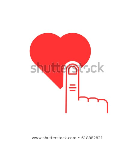 love heart red button and pointer hand stock photo © donskarpo