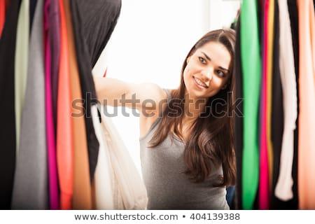 mooie · cute · jonge · brunette · portret · vrouw - stockfoto © lithian