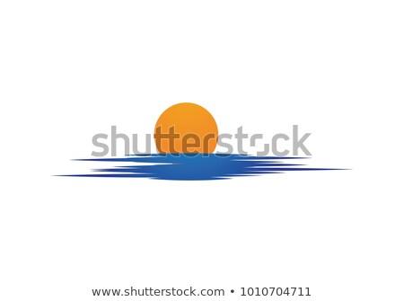 Brilhante sol praia brilhante acima duna Foto stock © filmstroem