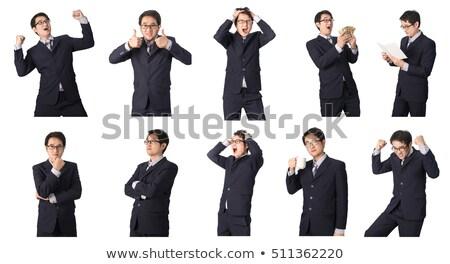 Férfi öltöny szomorúság üzletember űr munkás Stock fotó © photography33