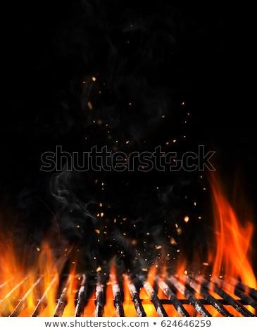 Tyúk barbecue grill közelkép főzés barbecue étel Stock fotó © chris2766