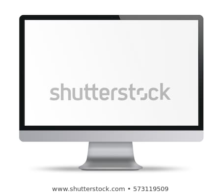 Stock photo: Computer monitor isolated