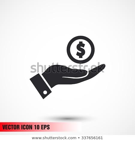 Hand geld vrouwelijke twintig pond Stockfoto © Taigi