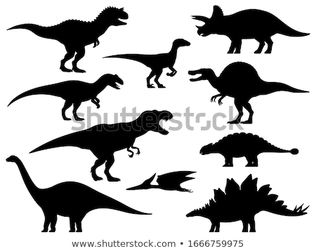 silhouette of allosaurus stock photo © perysty