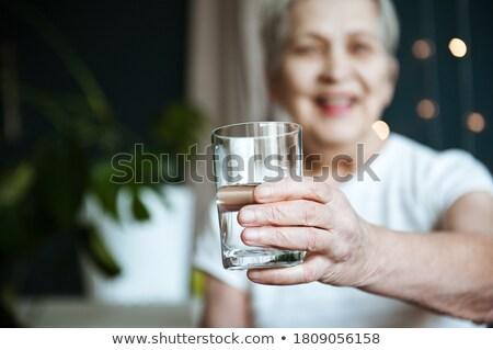 Kadın su yorgun antreman kolej Stok fotoğraf © pongam