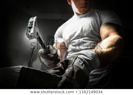 worker holding hammer stock photo © photography33