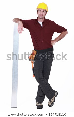 Tradesman leaning against a girder Stock photo © photography33