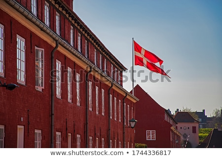 Flag of Denmark on brick wall stock photo © creisinger