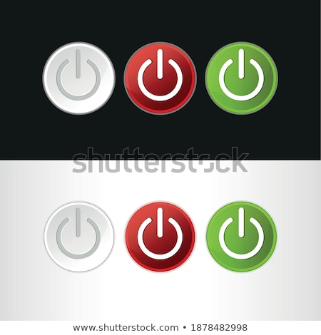 Foto stock: power button icon dark red isolated on white background