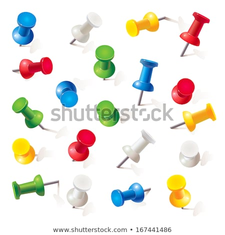 push pins on white background stock photo © ozaiachin